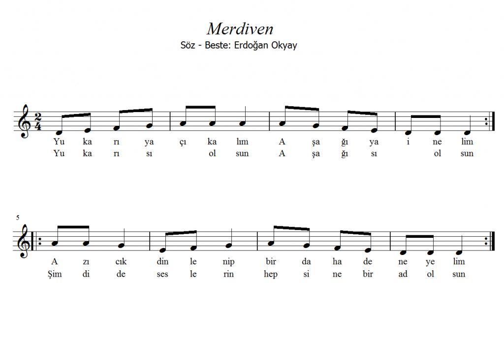 Merdiven Flüt Ve Melodika Notaları