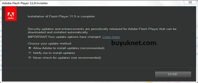 Adobe Flash Player Ekran Görüntüsü