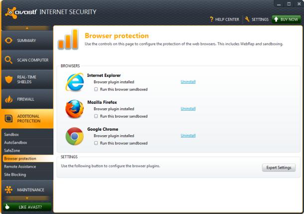 avast! Free Antivirus Ekran Görüntüsü