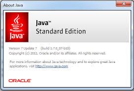 Java 7 Update Ekran Görüntüsü