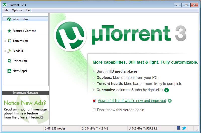 uTorrent Ekran Görüntüsü